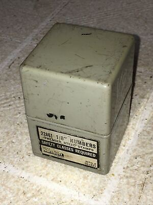 """9 Yb Metal 1//8/"""" Steel Punch Number 0-9 # Tool Used Stamp No Box B1i"""