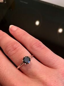 0.96cts Black Diamond Ring Fremantle Fremantle Area Preview