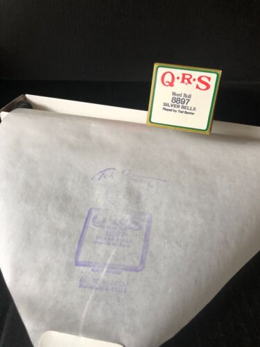 SILVER BELLS - QRS CHRISTMAS PIANO ROLL 8897 - p/b Ted Baxter