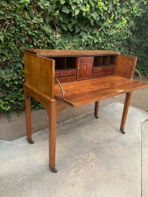 Late 18th Century Federal Inlayed Folding Secretary Desk