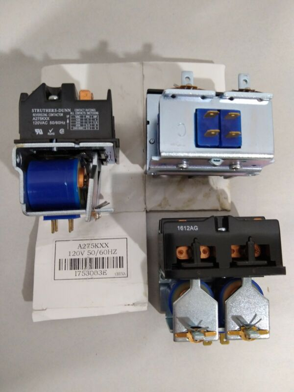 Struthers-dunn A275KXX 120v Reversing Contactor Lot Of 3 NOS Out Of The Box