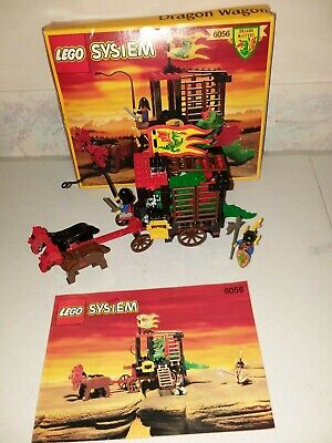 Lego Castle, Dragon Masters, 6056 Dragon Wagon 100% Complete Box / Instructions