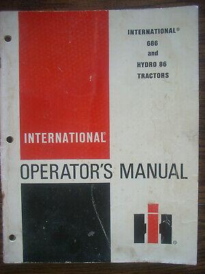 Ih Farmall International 686 Hydro 86 Owners Manual