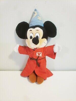 Vintage Plush Mickey Mouse Fantasia Sorcerer Disney Channel Stuffed Toy