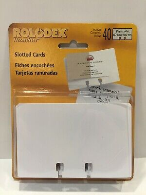 40 Rolodex Slotted Combination Refill Cards 2 58 X 4 Free Shipping Brand New