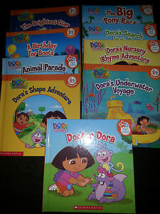 DORA THE EXPLORER LEARN AND PLAY BOOKS AND BLUES CLUES - SET (18)