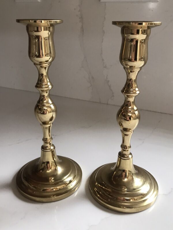 """VINTAGE VALSAN MADE IN PORTUGAL 6 1/2"""" CANDLESTICK HOLDERS BEAUTIFUL!"""