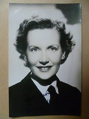 Vintage Photograph: JOAN HOPKINS with Autograph