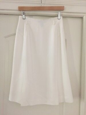 Ellen Tracy Classic Belted White Knee-Length Skirt - Size (Belted Classic Skirt)