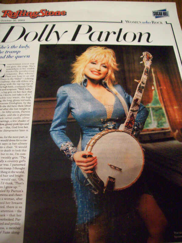 Dolly Parton 4 Page 2003 Rolling Stone Magazine Article