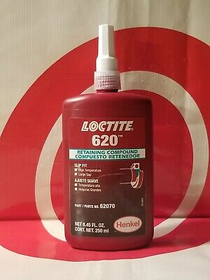 Usa Made Loctite 620 250ml Retaining Compound  62070 Exp 112019