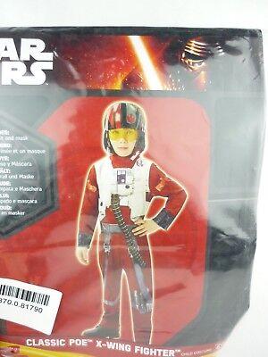 Rubies 620264 Star Wars X-Wing Fighter Poe Classic Kinderkostüm Größe M 110-128