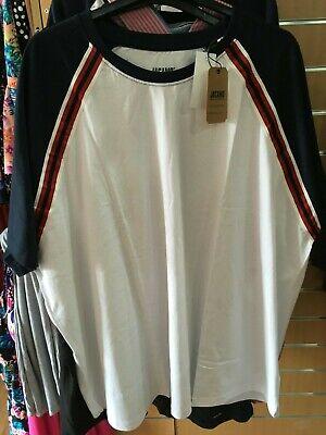 JACAMO navy/white/red    t-shirt   2XL  LONG  bnip  BIG&TALL