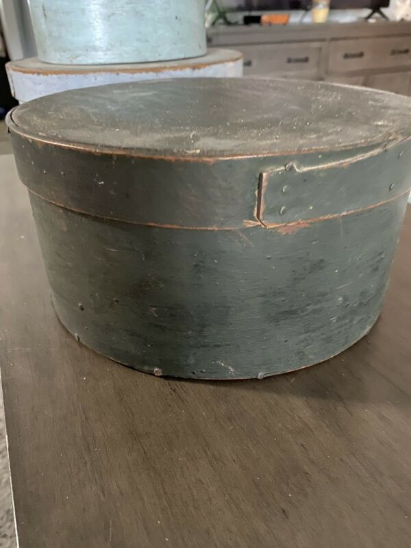 Antique Primitive Green Pantry Box Aafa