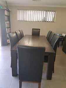 Dining Table, 8 Chairs Baldivis Rockingham Area Preview