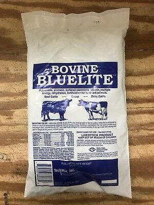 Bovine Bluelite Fight Dehydration Encouraging Water Consumption Cattle 2lb Pkg.
