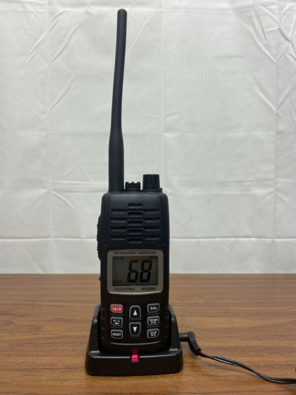 Standard Horizon HX290 Floating Handheld VHF MARINE RADIO 5 Watts with Charger