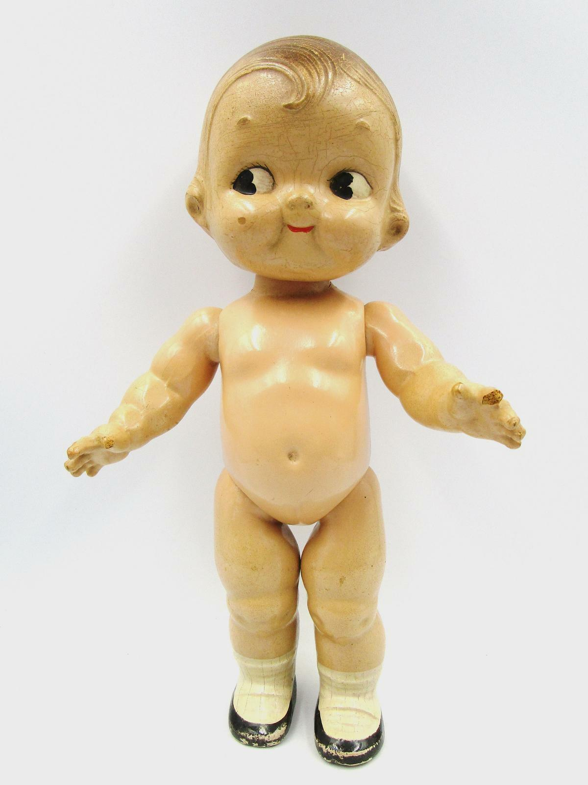 CAMPBELL SOUP KID DOLL All Composition Horsman 12 In. 1940 s Side Glancing Eyes - $45.00