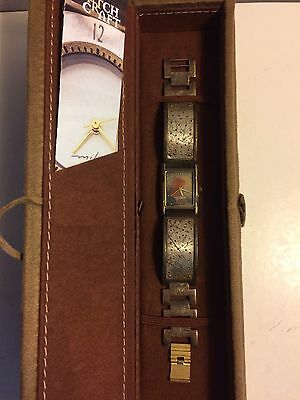 EDUARDO MILIERIS WATCHCRAFT UNISEX  SIGNED LIMITED EDITION WRIST WATCH NEW W/BOX