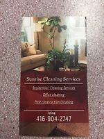 Cleaning services   416-904-2747