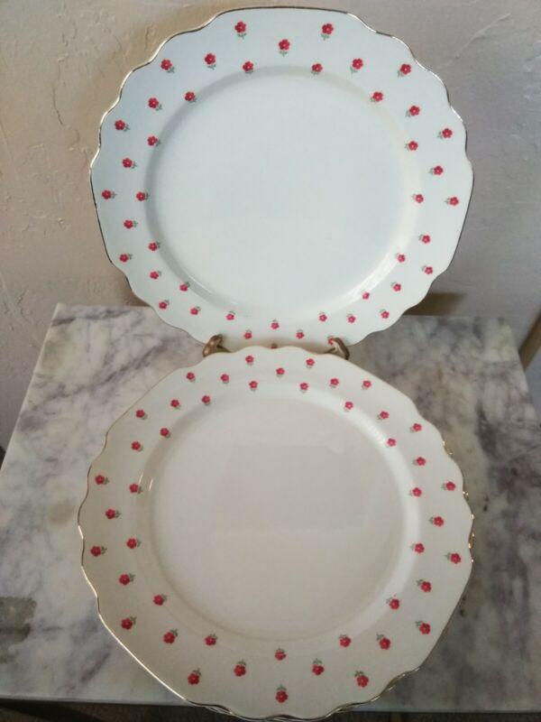 "Blushing Rose Dalrymple Lido WS George 9 3/8"" Luncheon Plates (5) USA 1950"