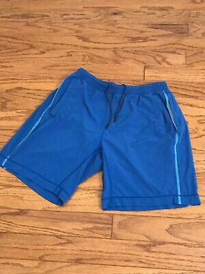 "Lululemon Men's Pace Breaker Shorts 9"" Lined Color Blue Size Large Pre-owned"