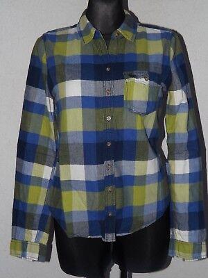 Abercrombie & Fitch womens cotton long sleeve check shirt size M, usado segunda mano  Embacar hacia Argentina