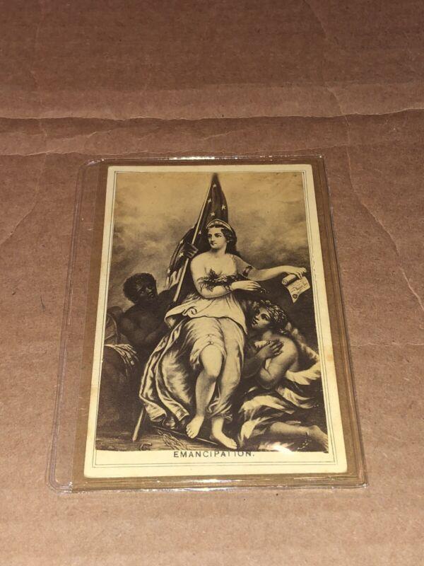 """1863~ EMANCIPATION~ """"END OF SLAVERY"""" REAL ~CIVIL WAR ERA~ PHOTO PRINT CVD"""