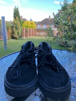 Nike SB Zoom Stefan Janoski Mid Black/Black Skate Shoes Mens Size 9 Used.