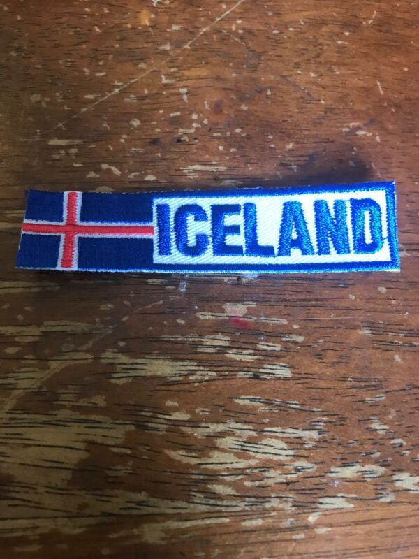 Iceland Scouting Patch Jamboree Flag Slit Patch 19-132B