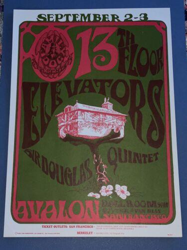 Sir Douglas Quintet 13th Floor Elevators 1966 Family Dog FD 24 Concert Poster - $100.00