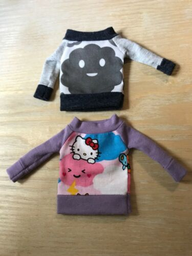Fun hello kitty and black  shirts  for Neo Blythe ! ship within the US !