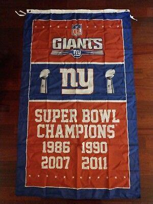 New York Giants Super Bowl Champions 3x5 Banner Flag. US seller!!!