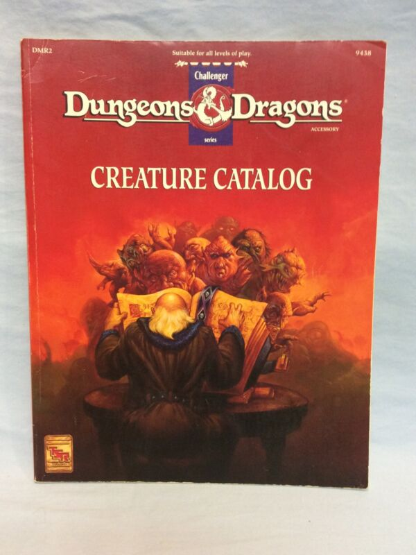 Creature Catalog 1993 Dungeons & Dragons Accessory DMR2 TSR 9438  Softcover