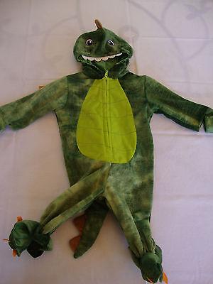3 Headed Dragon Halloween Costume (NEW Halloween Theater Koala Kids Full Green Lizard Dragon Costume 3D Head 6m)