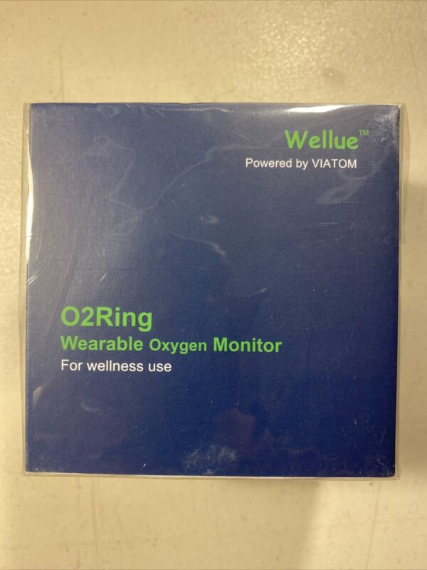 Wellue 02Ring Tracker With Vibrate Oxygen Level Heart Rate Monitor Bluetooth New
