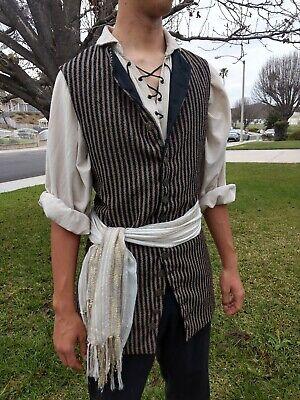 Pirate Colonial Steampunk Vest](Mens Pirate Vest)