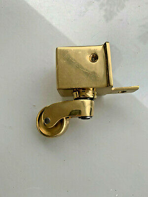 """4 large CUP solid Brass foot castors wheel chairs table old style castor 3.1//2/""""B"""