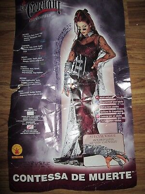 Womens CONTESSA DE MUERTE VAMPIRE sexy Halloween Costume One Size Fits Most