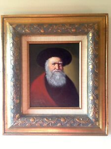David Pelbam oil painting amazing frame !! Listed artist rare