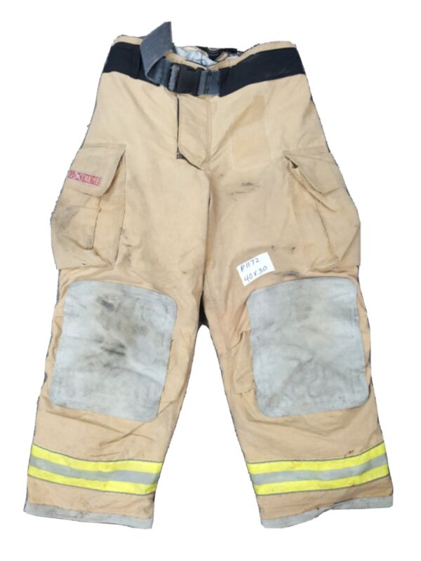 40x30 Globe Gxtreme Firefighter Turnout Pants with Yellow Reflective Tape P1172