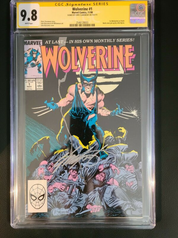 WOLVERINE #1 (1988) SIGNED CGC 9.8 White Pages. 1st Appearance as Patch
