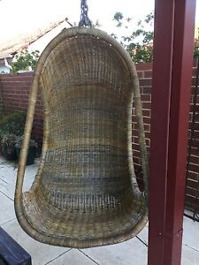 Vintage hanging wicker egg chair Kewdale Belmont Area Preview