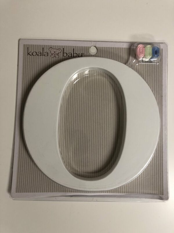"Koala Baby Wall Letter ""O"" Personalize Nursery Bedroom Playroom Keyhole White"