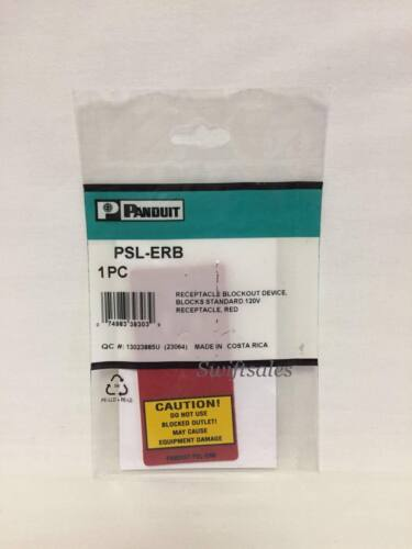 Panduit PSL-ERB - 120 V Electrical Receptacle Outlet Blockout Red Plate - New