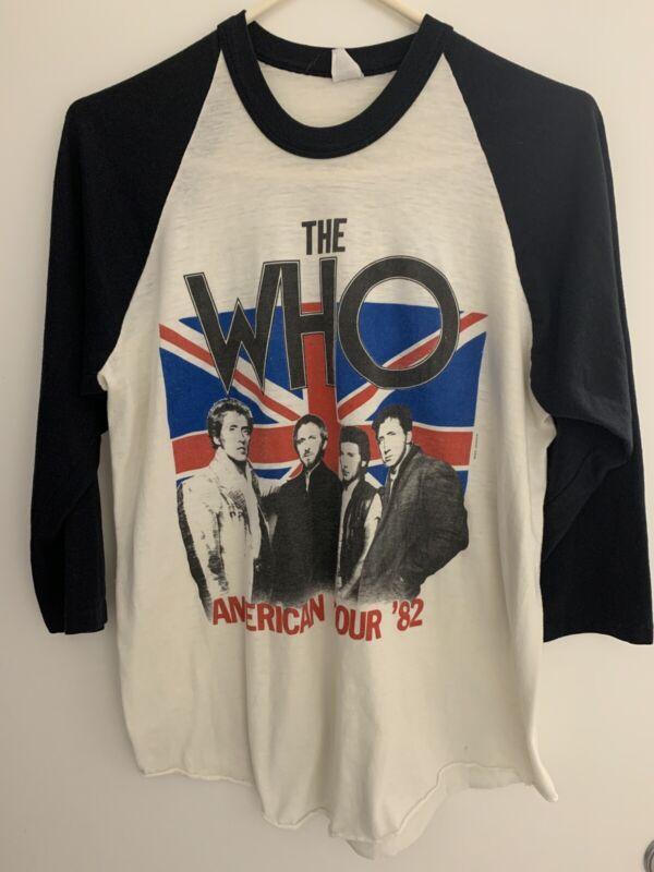 The Who American Tour 82; Vintage Baseball Tee; Large; COOL VIBE!