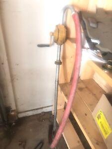 Fillrite handcrank barrel pump with fuel hose