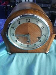 FOREIGN 1930'S MANTLE CLOCK 7 DAY WESTMINSTER CHIME