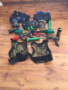 2 sets of paintball gear