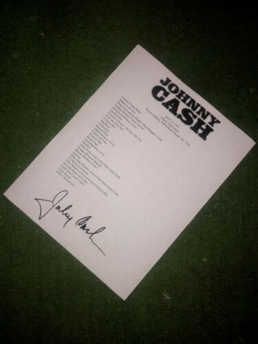 Johnny Cash signed setlist reprint from House of Blues South Carolina 1997